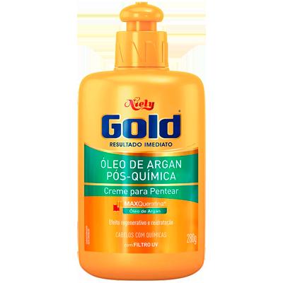 Creme de Pentear pós química 280g Niely Gold  UN