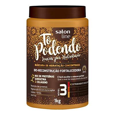 Creme de Tratamento de Cabelos bio reconstrução fortalecedora NV3 pote 1kg Tô Podendo/Salon Line POTE