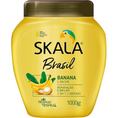 Creme de Tratamento de Cabelos Bomba Banana e Bacuri 1kg Skala pote POTE