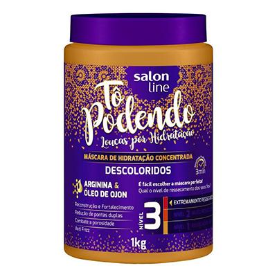 Creme de Tratamento de Cabelos descoloridos 1kg Tô Podendo/Salon Line pote POTE