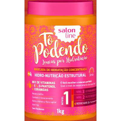 Creme de Tratamento de Cabelos hidro nutrição estrutural NV1 pote 1kg Tô Podendo/Salon Line POTE