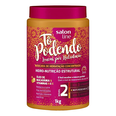 Creme de Tratamento de Cabelos hidro nutrição estrutural NV2 1kg Tô Podendo/Salon Line pote POTE