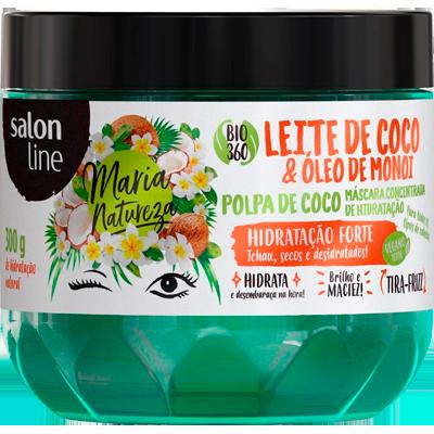 Creme de Tratamento de Cabelos leite de coco pote 300g Maria Natureza/Salon Line POTE