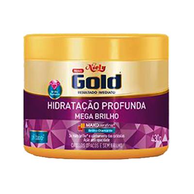 Creme de Tratamento de Cabelos Mega Brilho pote 430g Niely Gold POTE