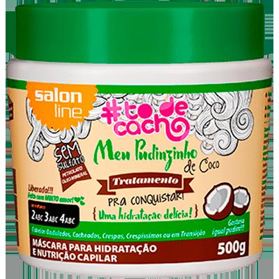 Creme de Tratamento de Cabelos meu pudinzinho de coco 500g #todecacho/Salon Line pote POTE