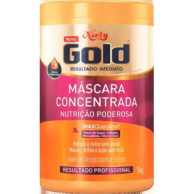Creme de Tratamento de Cabelos Nutrição Poderosa 1kg Niely Gold pote POTE