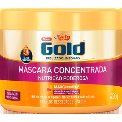Creme de Tratamento de Cabelos Nutrição Poderosa pote 430g Niely Gold POTE