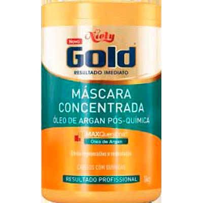 Creme de Tratamento de Cabelos Óleo de Argan pote 1kg Niely Gold POTE