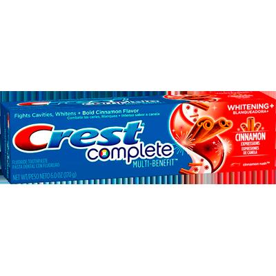 Creme Dental complete cinnamon rush 170g Crest UN