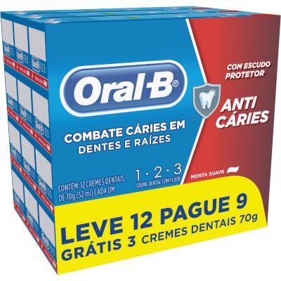 Creme Dental oral-B 123 Leve 12 Pague 09 12 unidades de 70g Oral-B pacote PCT