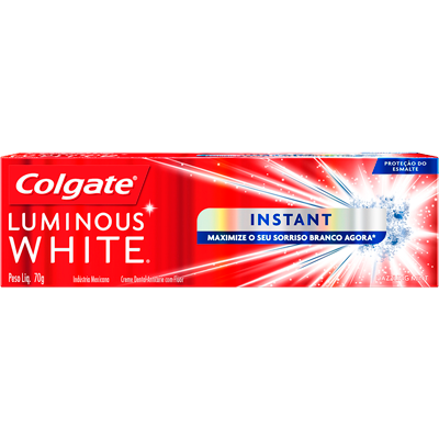 Creme Dental terapêutico instant 70g Luminous White Colgate UN