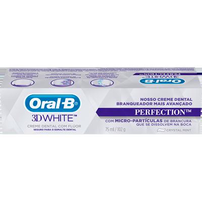 Creme Dental tradicional 3D whit perfection 75ml Oral-B  UN