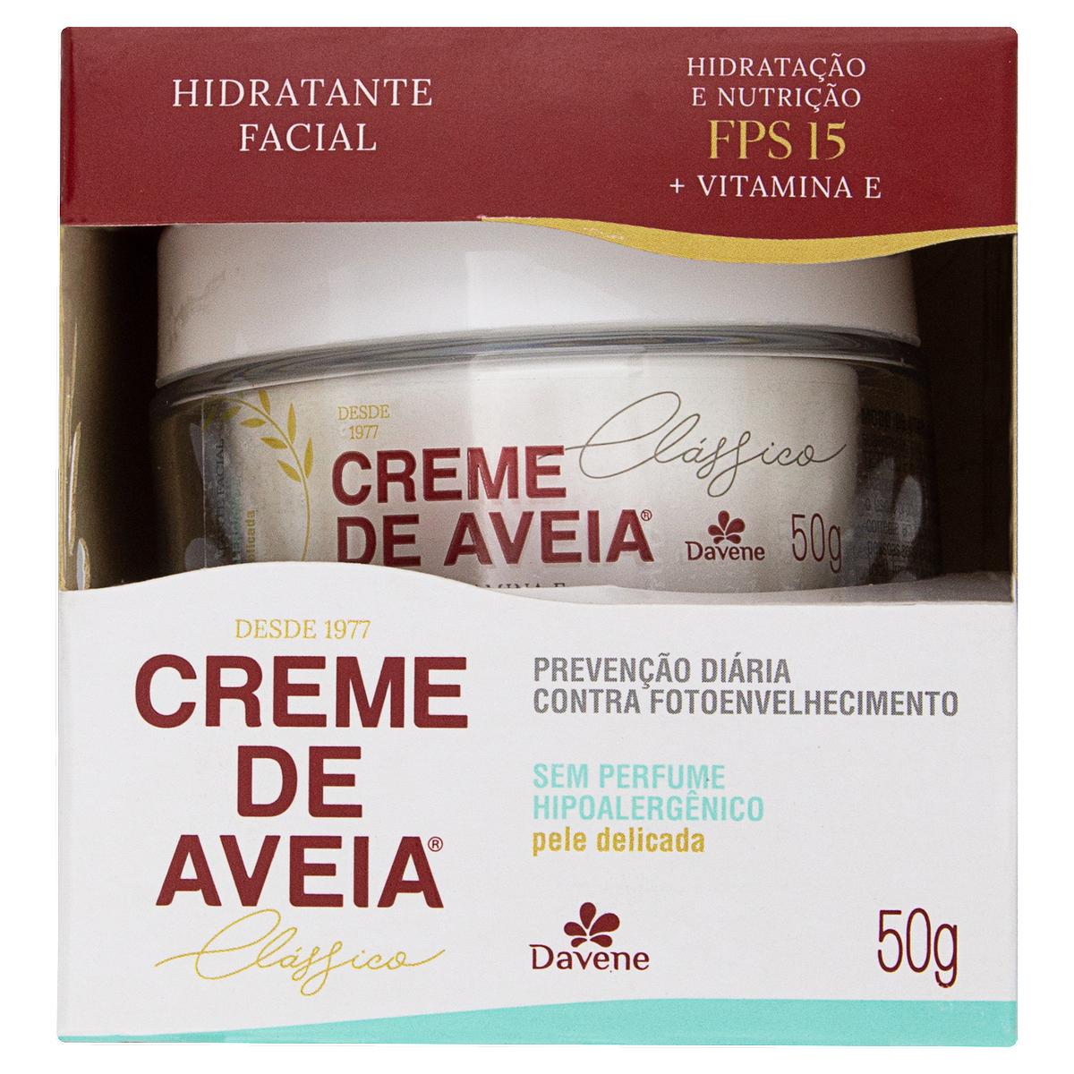 Creme Facial Hidratante Hipolergênico 50g Davene  UN