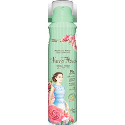 Desodorante aerosol clássico 160ml Alma de Flores  UN