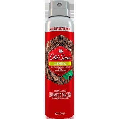 Desodorante aerosol lenha 150ml Old Spice  UN