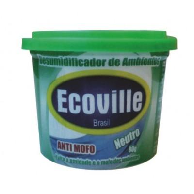 Desumidificador de Ambientes neutro pote 80g Ecoville POTE