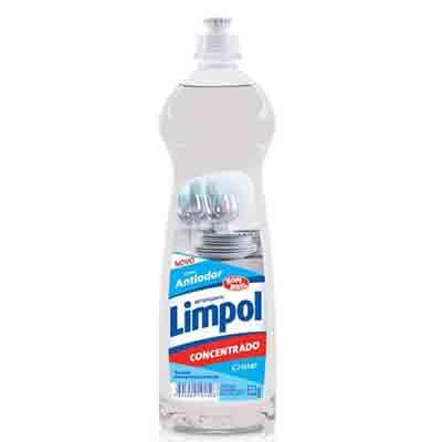 Detergente Gel Concentrado Cristal 511g Limpol frasco FR