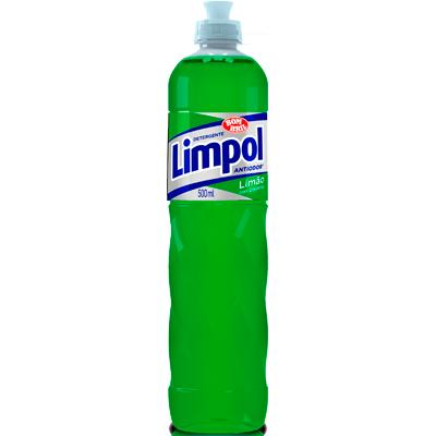 Detergente Líquido Limão 500ml Limpol frasco FR