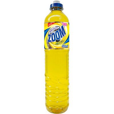 Detergente Líquido Neutro 500ml Ecoville/Zoom frasco FR