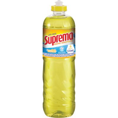 Detergente Líquido Neutro 500ml Suprema frasco FR