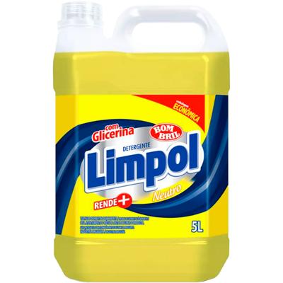 Detergente Líquido Neutro 5Litros Limpol galão GL