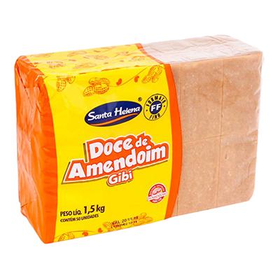 Doce de amendoim gibi pacote 50 unidades Gibi UN
