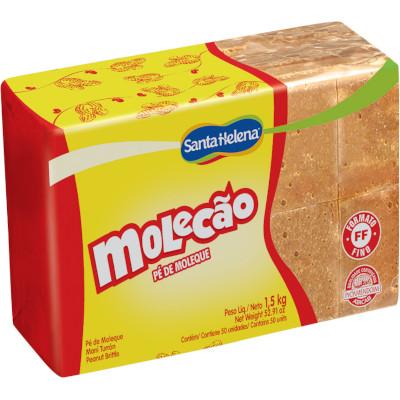 Doce de amendoim Molecão 1,5kg Santa Helena pacote PCT