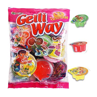 Doce de gelatina em copinhos 15 unidades Gelli Way pacote UN