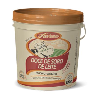 Doce de leite com soro cremoso 9,8kg Áurea balde BD