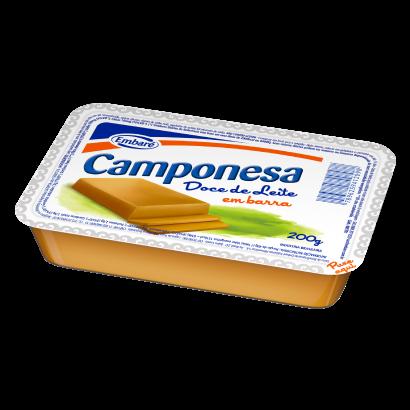 Doce de leite em barra 200g Embaré/Camponesa bandeja UN
