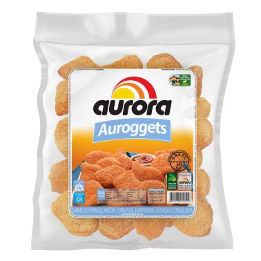 Empanado de Frango (tipo nuggets) congelado por Kg Aurora/Auroggets pacote KG