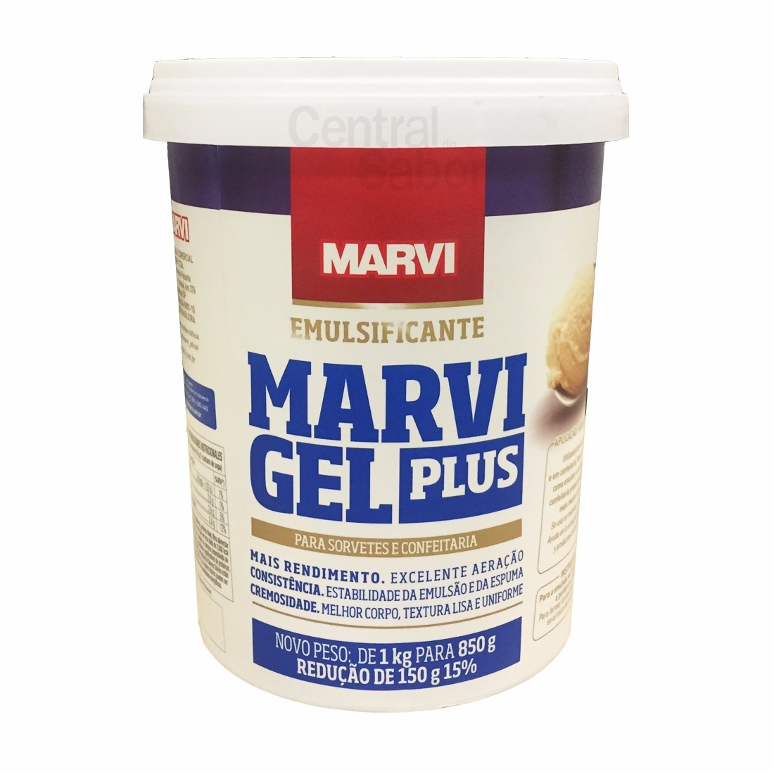 Emulsificante estabilizante em gel 850g Marvi pote UN