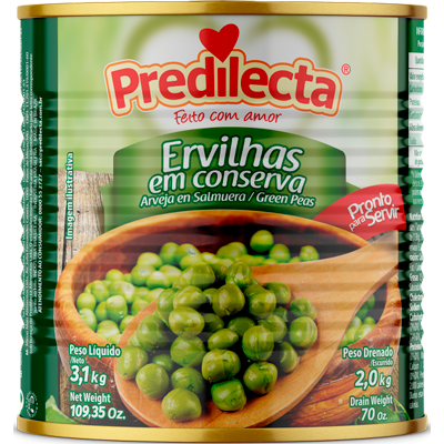 Ervilha em Conserva 2kg Predilecta lata LT