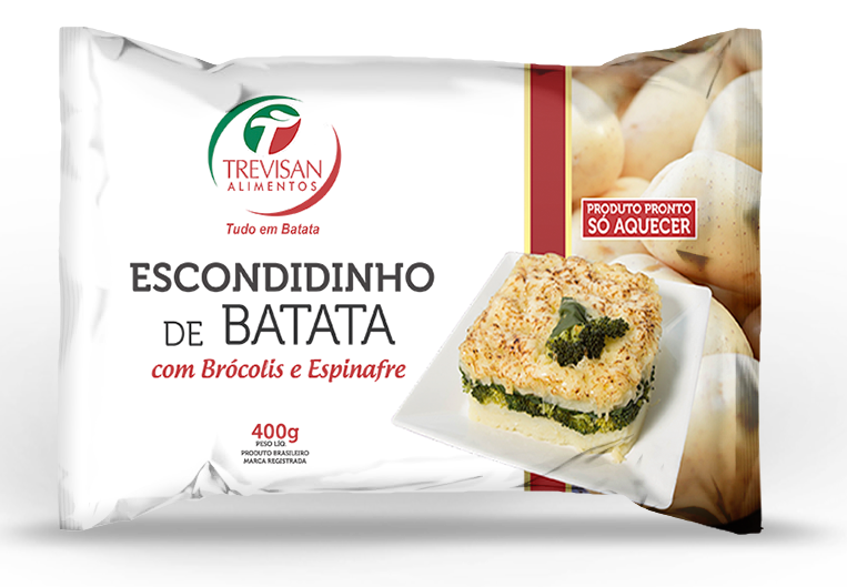 Escondidinho de Batata com brócolis e espinafre congelado 400g Trevisan  UN
