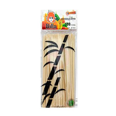 Espeto de bambu 18cm x 3mm unidade Billa  UN
