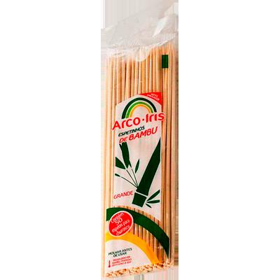 Espeto de bambu 25cm x 4mm unidade Arco Iris  UN