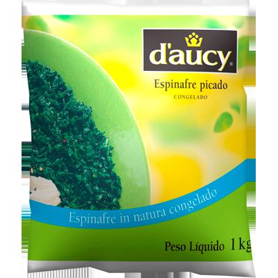 Espinafre congelado picado 2,5kg Daucy pacote PCT