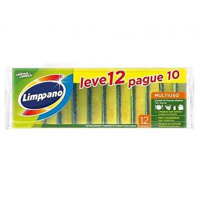 Esponja de limpeza multiuso Leve 12 Pague 10 pacote 12 unidades Limppano UN