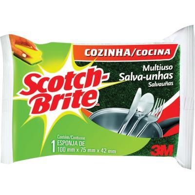 Esponja de limpeza multiuso 1 unidade Scotch Brite pacote PCT