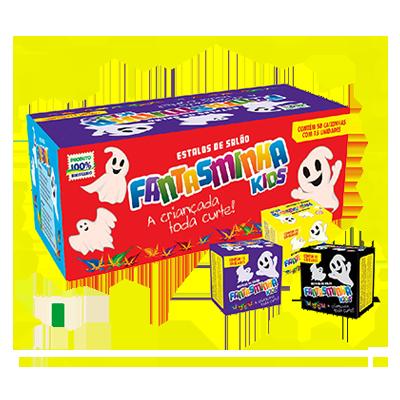 Estalos de salão fantasminha 50 unidades Fantasminha Kids caixa CX