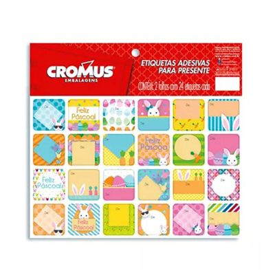 Etiqueta  unidade Cromus pacote UN