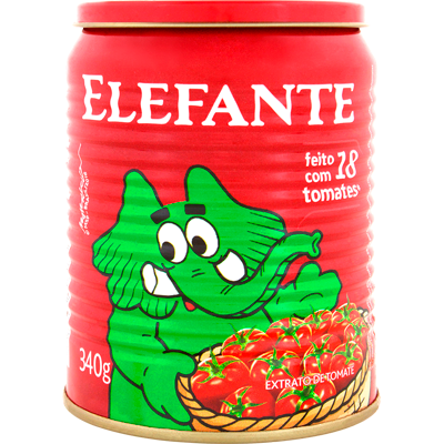 Extrato de tomate  340g Elefante lata UN