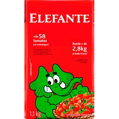 Extrato de tomate  1,1kg Elefante Tetra Pak UN