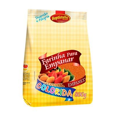 Farinha de empanar colorida laranja 800g Empanex/Baptistella pacote PCT