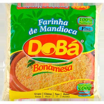 Farinha de mandioca crua e fina 500g Dobá pacote PCT