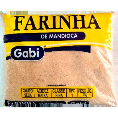 Farinha de mandioca crua e fina 500g Gabi pacote PCT