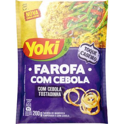 Farinha de mandioca Temperada Cebola 200g Yoki pacote PCT