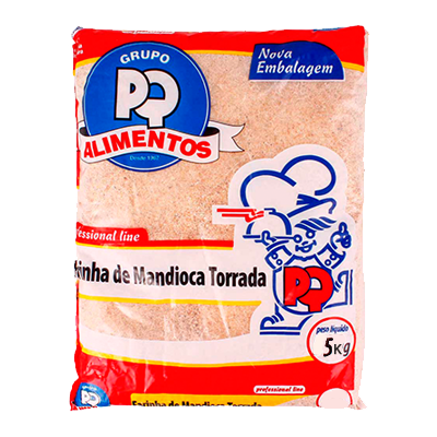 Farinha de mandioca torrada pacote 5kg PQ Alimentos PCT