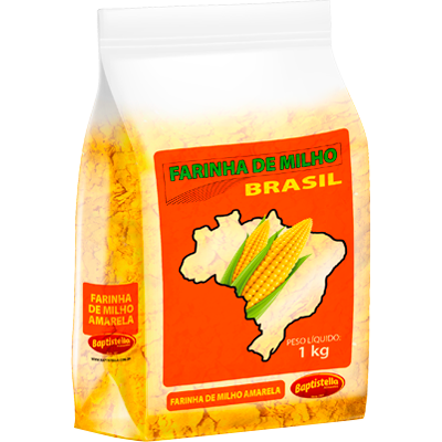 Farinha de milho pacote 1kg Brasil/Baptistella PCT