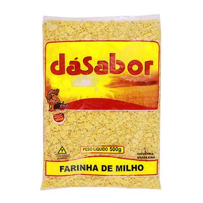 Farinha de milho  500g DáSabor pacote PCT